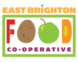 Logo for East Brighton Food Co-operative full colour logo
